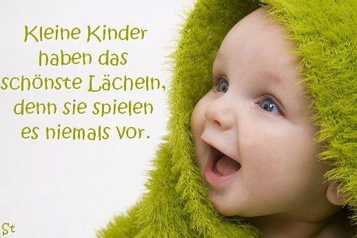 Kinderlächeln ist noch ehrlich