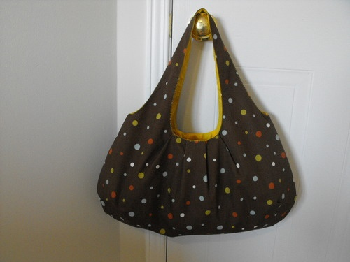 Reversible Pleated Hobo Bag