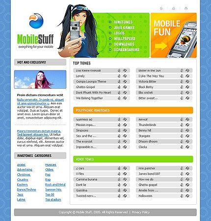 Mobile Stuff Website Templates by Svelte