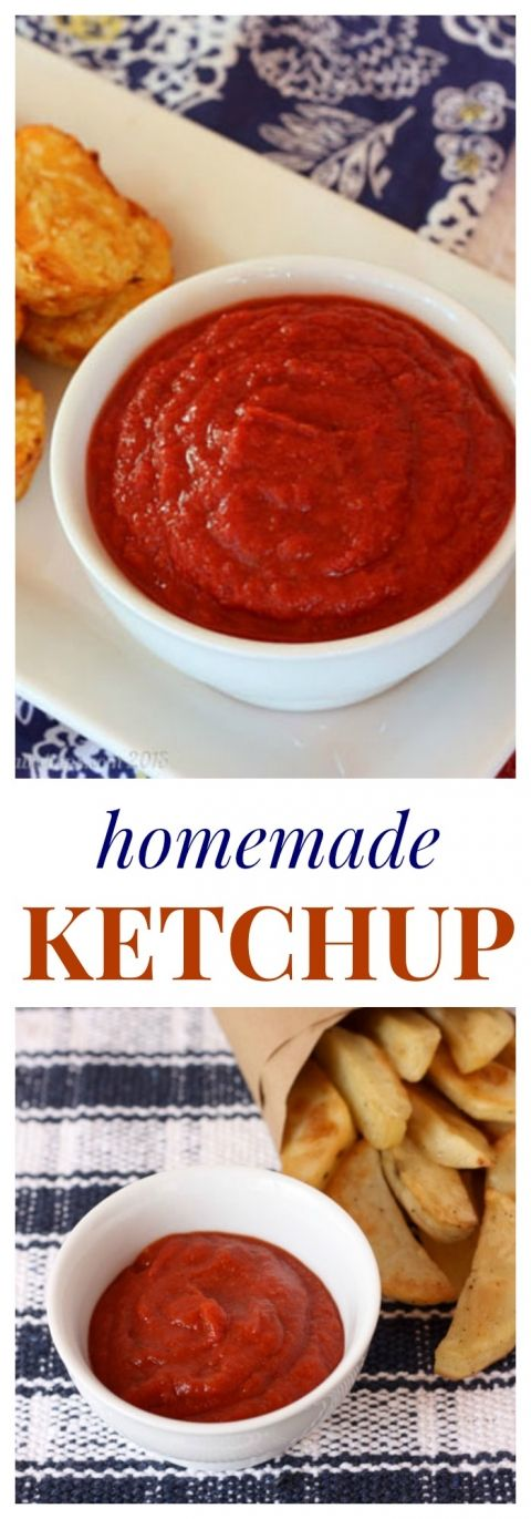 Homemade Ketchup - my kids will eat anything dipped in this. And since there is no sugar added, it totally counts as a veggie! | cupcakesandkalechips.com | gluten free, vegan