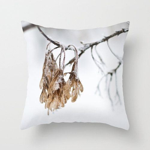 Unique Winter Pillow Cover Designer Throw by CrystalGaylePhoto