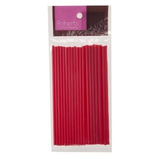 ROBERTS RED LOLLYPOP STICKS 150MM PACK OF 25