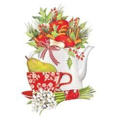 white teapot: