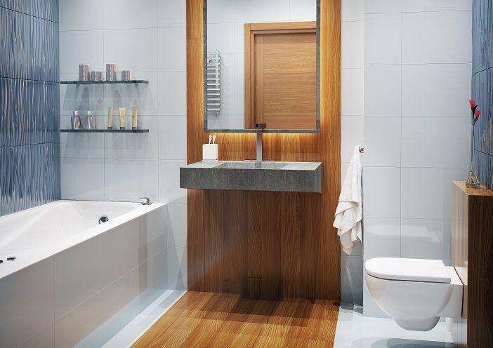 Kapitańska 35 Gdynia Przykładowa aranżacja łazienki. Biel połączona z drewnem sprawia, że czujemy się w niej jak we własnym, domowym SPA... BMC Budujemy Twoje marzenia
