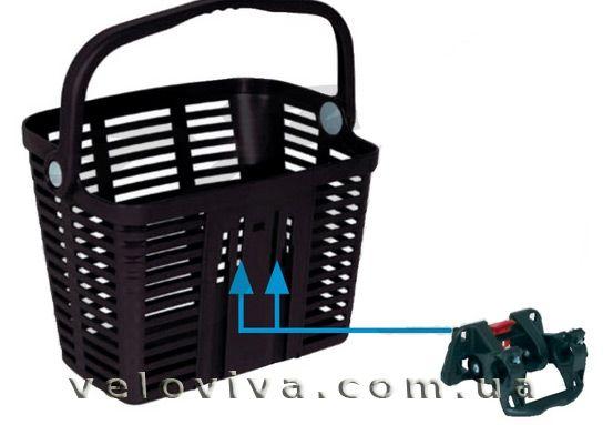 Корзина велосипедная Bellelli Plaza Nero Материал - пластмассовая корзина Крепиться - на руль Цвет -  чёрная Нагрузка - до 5 кг https://veloviva.com.ua/catalog/basket/bellelli-plaza-nero-/