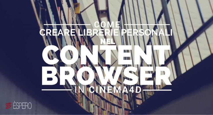 Carlo Macchiavello ci mostra come creare librerie personali nel content browser. Clicca qui per iscriverti subito al corso Cinema4D da noi: http://www.espero.it/corsi-cinema-4d?utm_source=pinterest&utm_medium=pin&utm_campaign=3DArchitecture