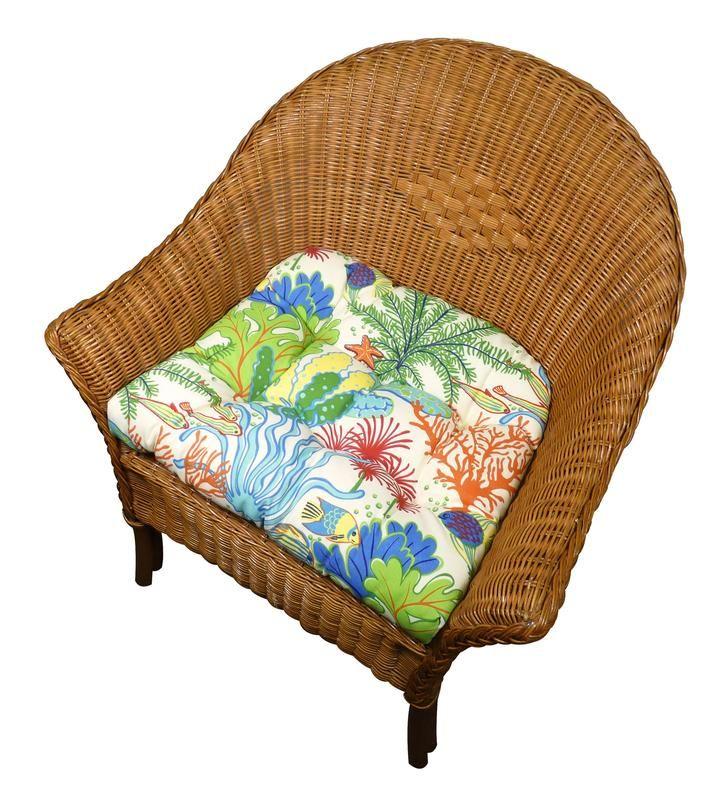 Splish Splash Indoor Outdoor Dining Chair Pads Patio Cushions