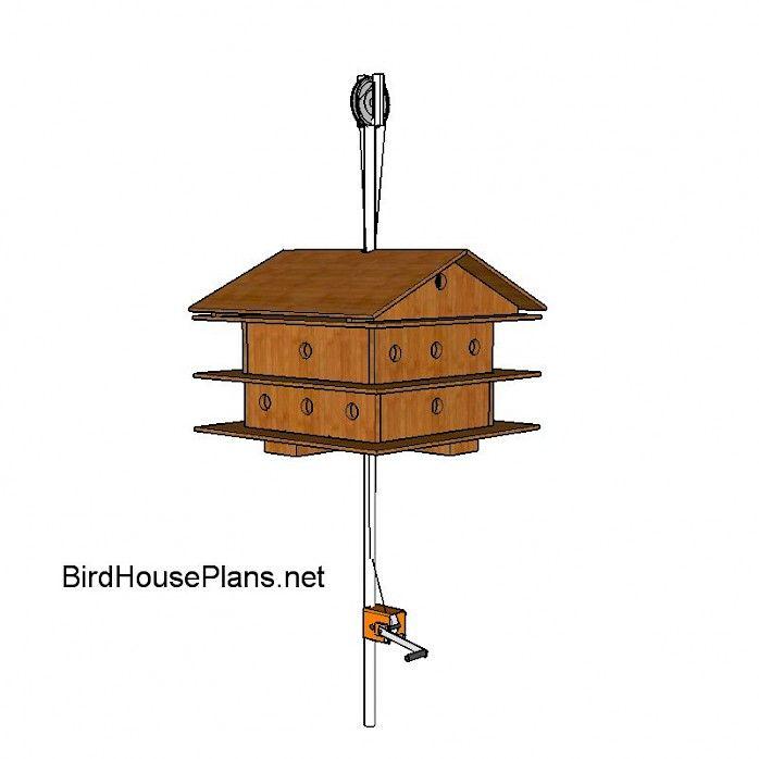 Best 25 purple martin house plans ideas on pinterest for Free martin house plans