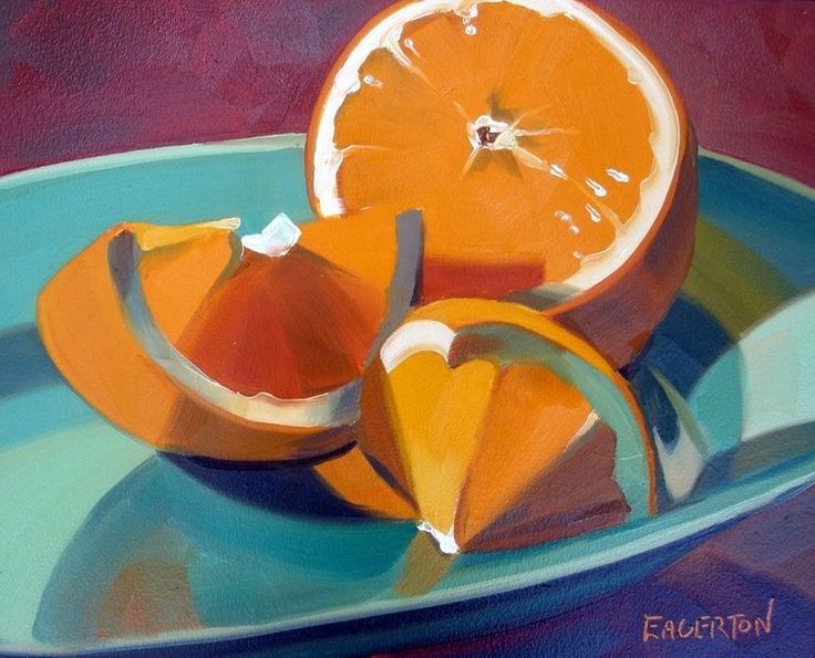 Orange, Green Plate by Leigh-Anne Eagerton