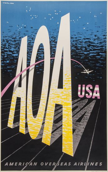 LEWITT-HIM LEWITT (1907-1991)HIM (1900 - ) AOA USA lithograph in colours, 1948 poster