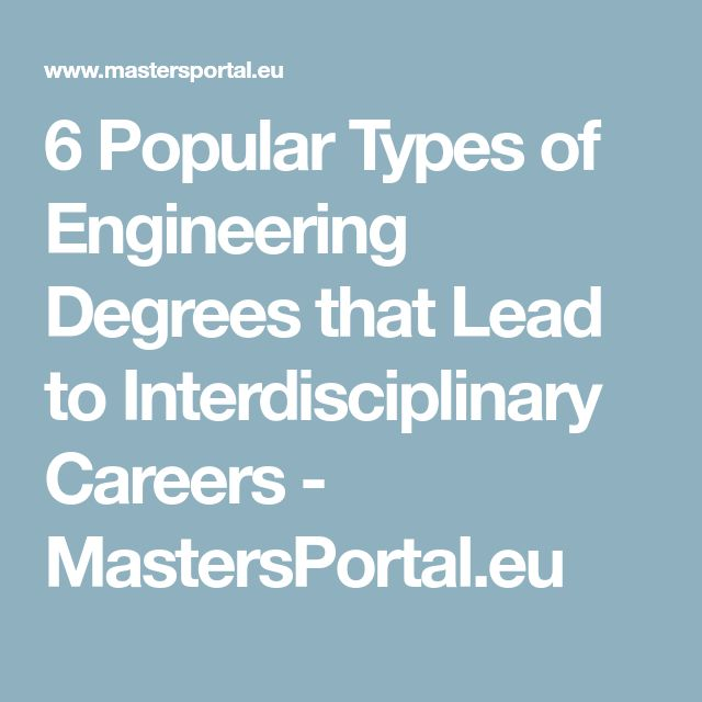 6 Popular Types of Engineering Degrees that Lead to Interdisciplinary Careers - MastersPortal.eu