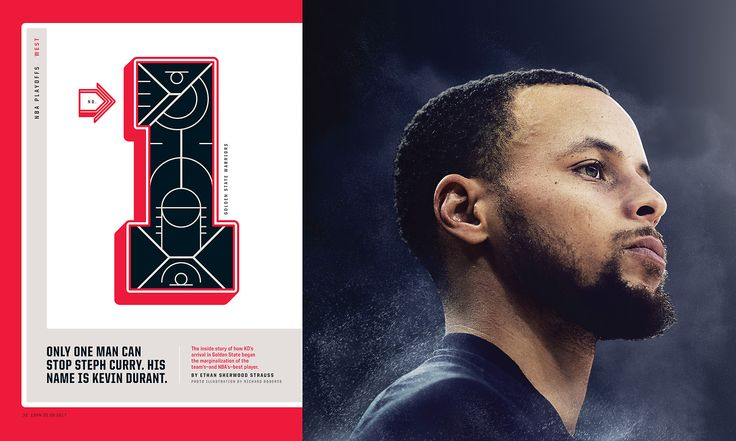 ESPN The Magazine / NBA Playoffs Issue  Photo Illustration by Richard Roberts  http://www.richardrobertsstudio.com/  Custom Typography by Marta Cerdà Alimbau  http://www.martacerda.com/