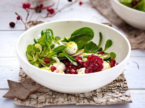 Weihnachtliche Vorspeisen - Auftakt zum Festessen - feldsalat-mit-mozzarella1  Rezept