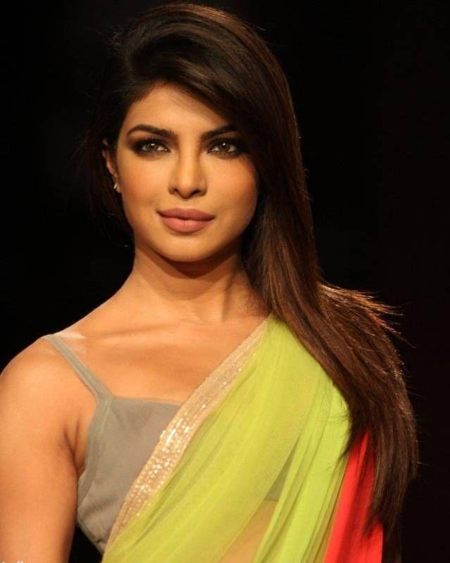Last piece Priyanka bollywood replica green soft net saree