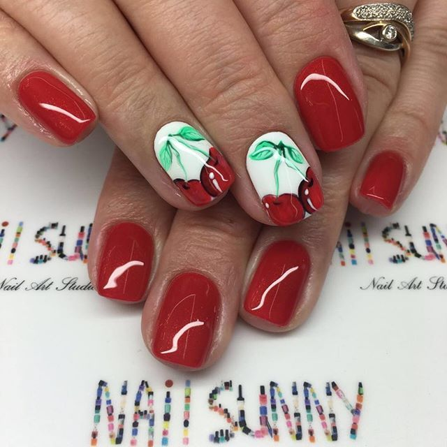 A red colour - is always bright, stylish and playful. A manicure in this colour is suitable for any image. The nails of such colour always look well-groome