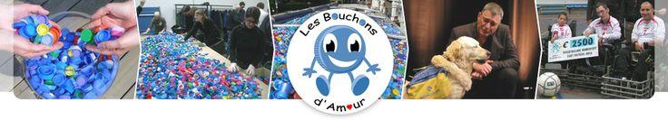 http://www.bouchonsdamour.com/  Objet de l'Association  : En France, acquisition de matériel pour handicapés (fauteuils roulants, …), opérations humanitaires ponctuelles. A l'étranger, participation de l'Association dans le cadre d'opérations humanitaires.