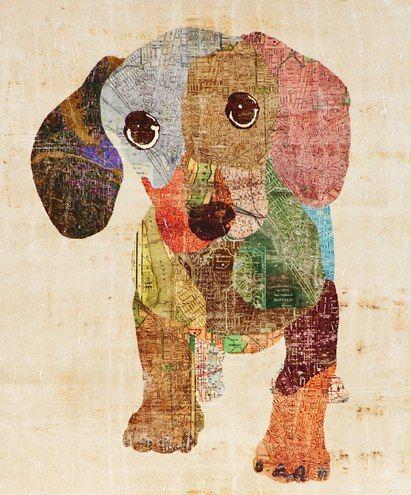 Sophia Fox dog art.: Dachshund Dogs, Sofia Foxes, Dachshund Art, Weenie Dogs, Foxes Art, Old Maps, Dogs Art, Kids Art, Kids Rooms