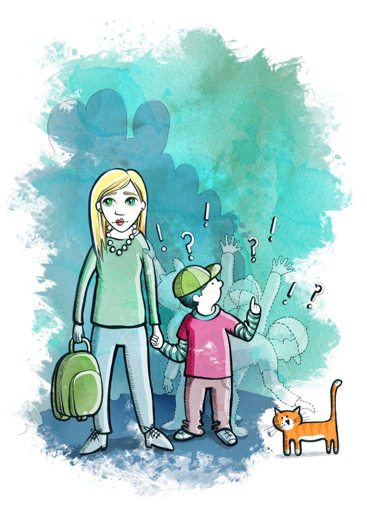 Illustration till Tidningen Pralin ADHD