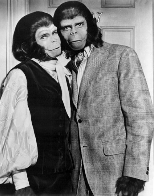 """Escape From The Planet Of The Apes"" - Zira (Kim Hunter) and Cornelius (Roddy McDowall)"