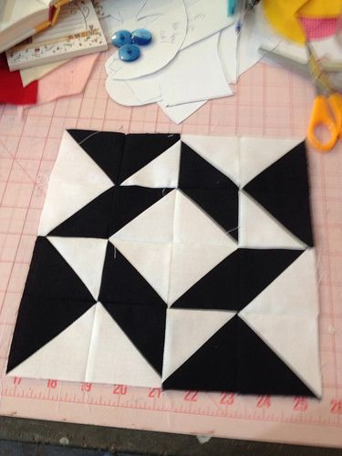 Modern Half-Square Triangle Quilt-a-Long Block 29