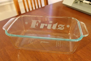 Create.Craft.Love.: Personalized Casserole Dish: Glass Etching, Diy Gifts Crafts Etc, Glasses, Gift Ideas, Casseroles, Etchings, Personalized Casserole, Craft Ideas, Casserole Dishes