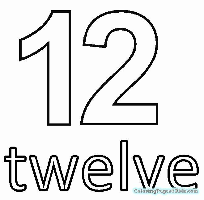 Number 12 Coloring Pages Lovely Number 12 Coloring Page Coloring Pages Printable Coloring Pages Number 12