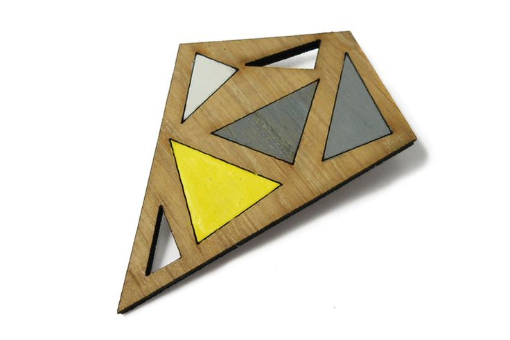 Diamond geometric Brooch by Gin and Tee Jewellery for sale on http://hellopretty.co.za