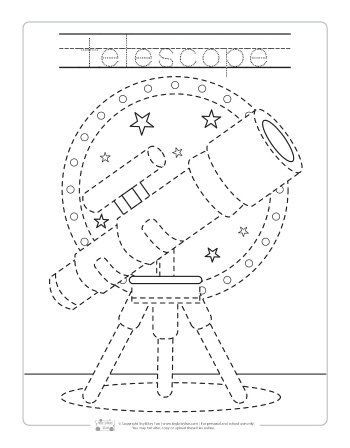 Space Tracing Worksheets Dramatic Play Centers Space