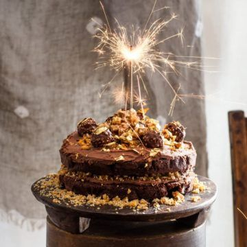 Ferrero Rocher Chocolate Hazelnut Cake