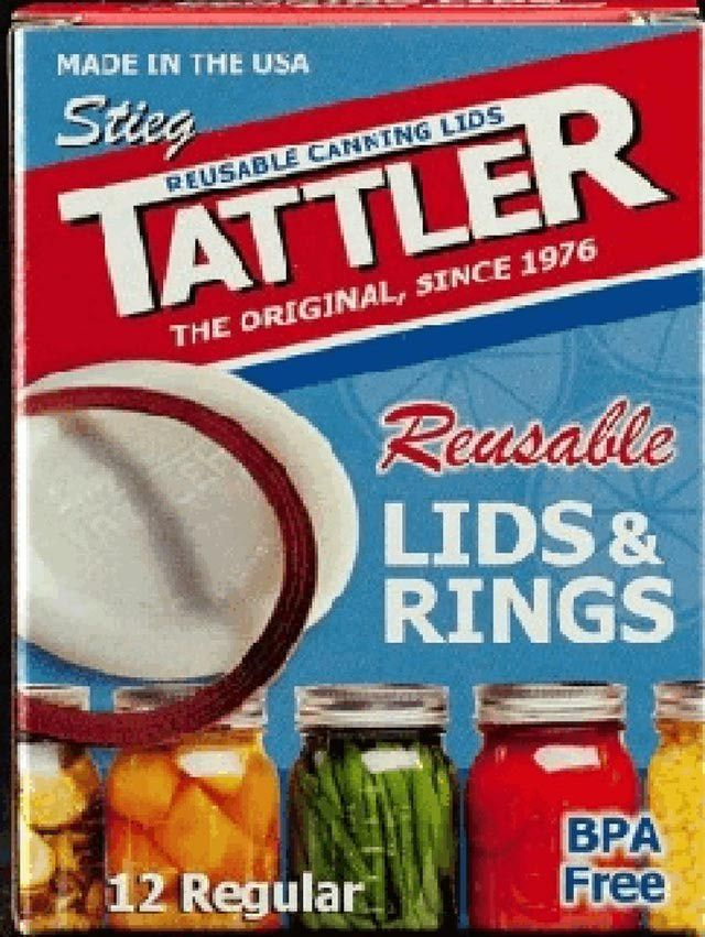 Reusable, BPA-free canning lids made by Tattler