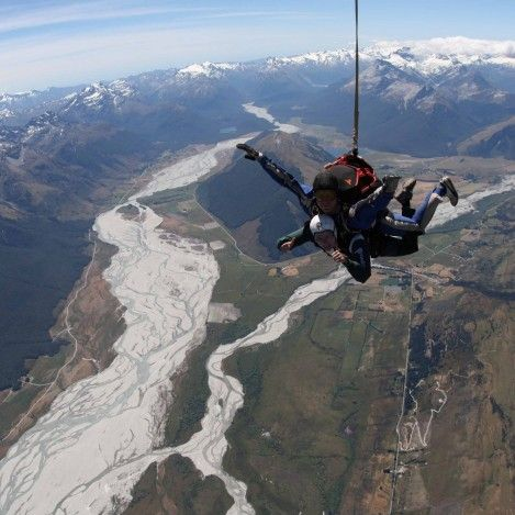 Free falling above mountains, lakes and braided rivers...it's an incredibly breathtaking experience in every way possible!
