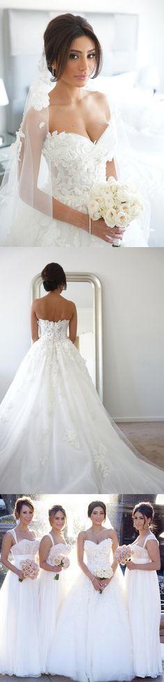 Elegant Bridal Dresses,Wedding Dresses,Tulle Wedding Dresses,Long Wedding Dresses,Chic Princess Wedding Dresses