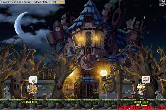 MapleStory Celebrates Halloween with Haunted House and Other Spooky Updates - posted in General: Los Angeles, CA – October 10, 2007 -  Nexon America Inc., the U.S. division of Asia's leading online games company Nexon Group, celebrates the upcoming Halloween holiday with oodles of new goodies to its smash hit, MapleStory. The massively multiplayer online role-playing game will expand the new continent of Masteria with the Phantom Forest and a new haunted house, The Prendergast Ma...