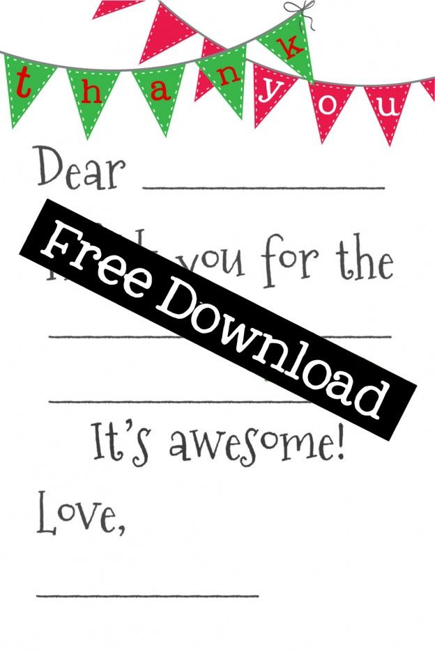 Free Fill-In-the-Blank Thank-You Cards | Free Printable, Thank You ...