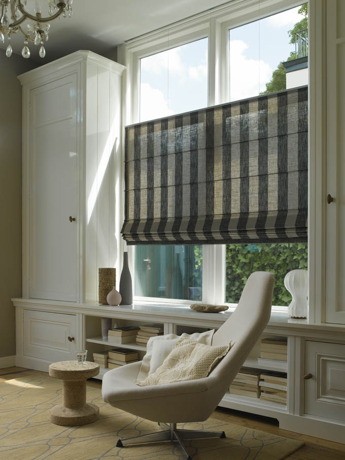 elegant roman shades from luxaflex the unique - Top Down Bottom Up Blinds