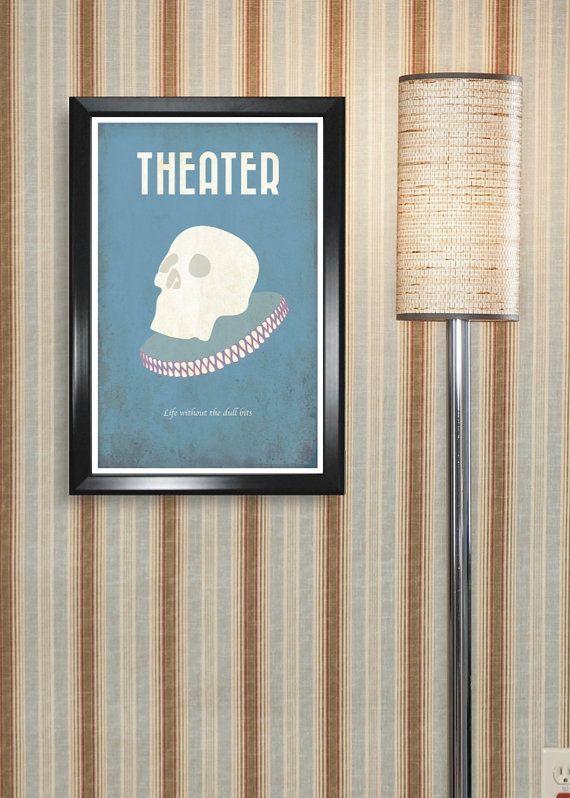 Minimalist Classroom Activities ~ Theatre minimalism poster print graduation