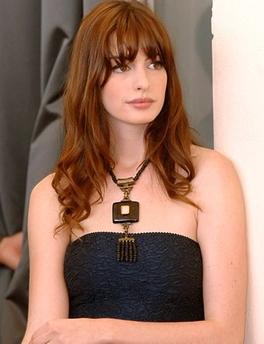 Anne Hathaway Red with fringe - Possible new do