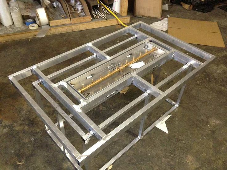 Custom Ready To Finish Fire Table With 120K BTU All Brass Crossfire Burner