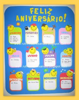 Ruthinha Artesanato: Cartaz aniversariante