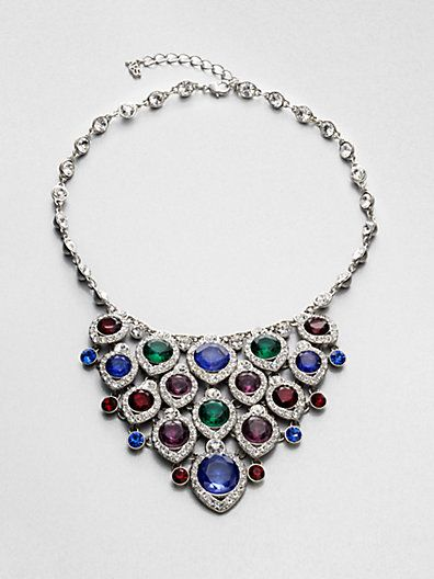 These 25+ Multicolor Jewels Will Live Up Your Outfit And Uplift Your Mood As Well  - Jewelry Set is one of the biggest wish of every women. Due to increasing prices of gold, it is going to be more complicated to afford the Gold Jewelle... -  ABS_by_Allen_Schwartz_Jewelry_Multicolor_Bib_Necklace .
