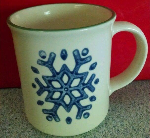 Pfaltzgraff Snowflake Christmas Winter Mug Coffee Tea Cup
