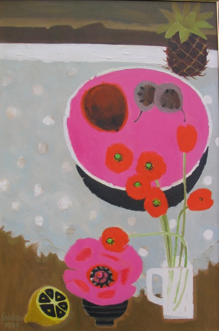 Mary Fedden - Orange poppies. Find this color in all things. Just pops.