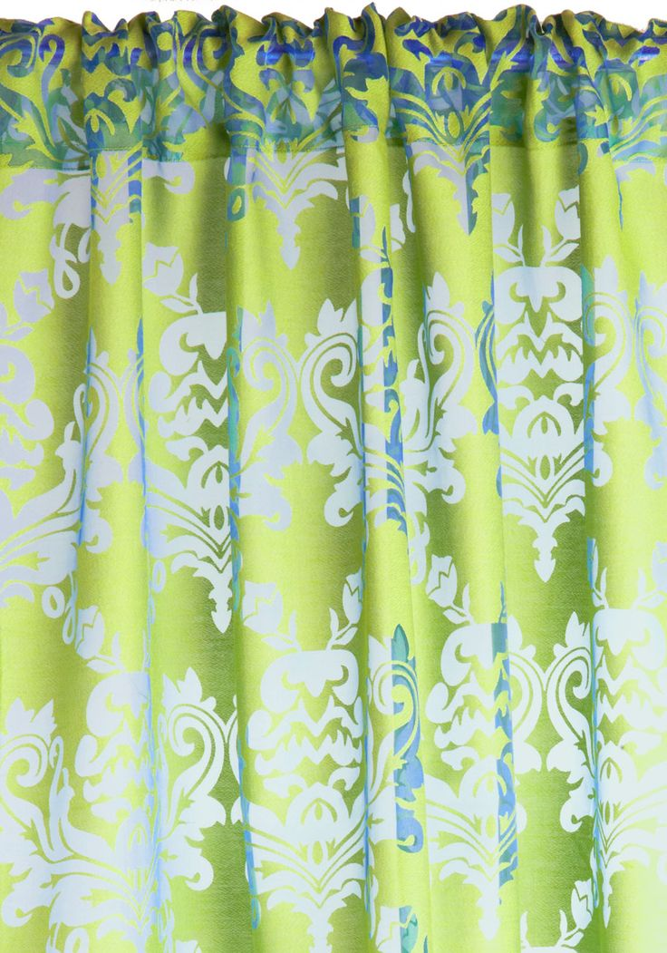 Shed Some Limelight Curtain. The City Paper Is Doing A Story On Your  Eclectic Decor, And Youve Chosen This Printed Curtain From Karma Living As  The Focal ...