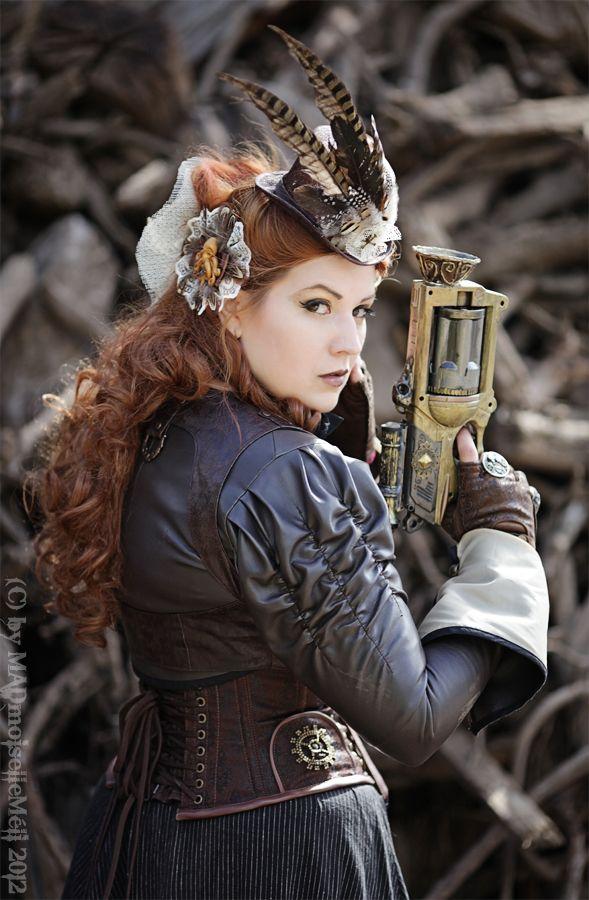 Huntress of Steammonsters III by MADmoiselleMeli.deviantart.comHair Piece, Steammonst Iii, Steampunk Costumes, Cosplay Steampunk, Steampunk Hair, Steam Punk, Female Steampunk, Costumes Steampunk, Fashion Handbags