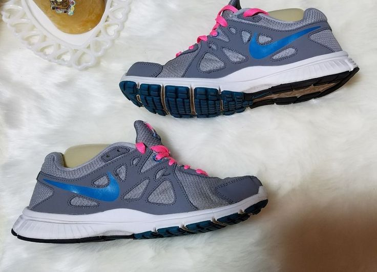 Nike Running Shoes Women size 9 Pink Grey Blue Revolution 2  | Clothing, Shoes & Accessories, Women's Shoes, Athletic | eBay!
