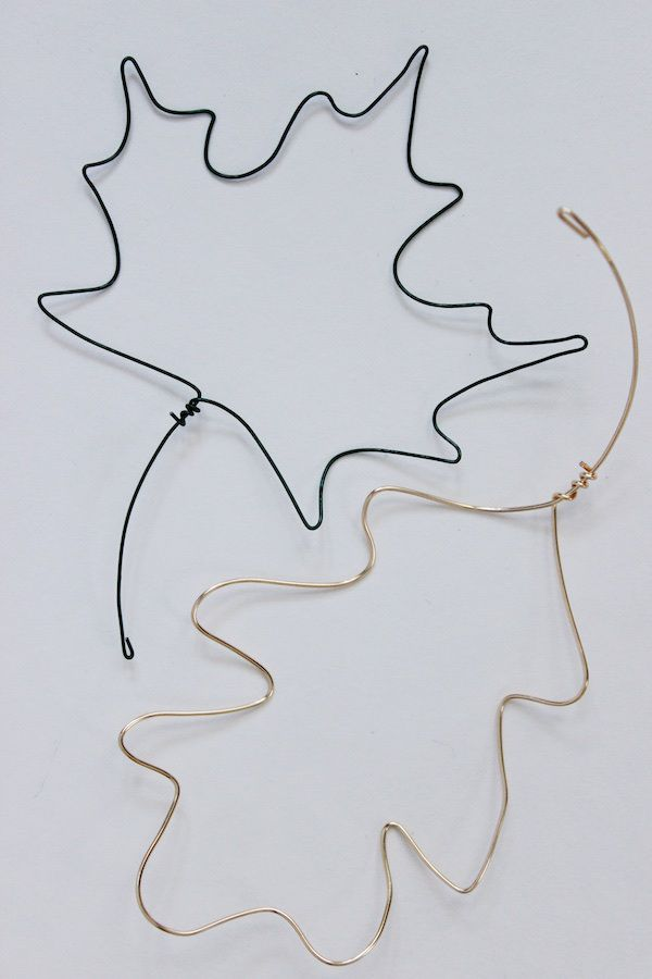 DIY : wire fall leaves barefootstyling.com