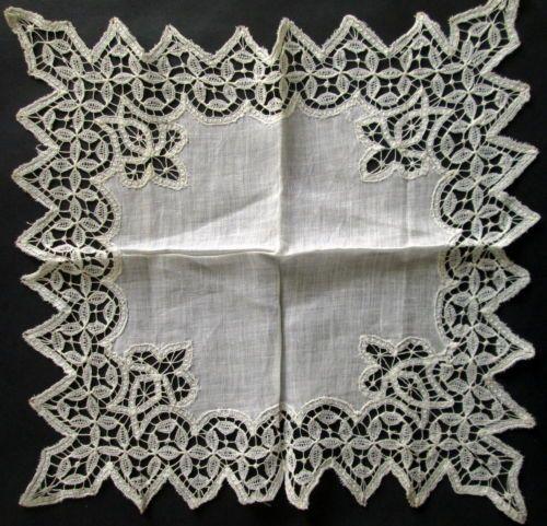 старинный ручной работы кружевной отделкой платок полупрозрачный Gossamer льняной невеста свадебное in Одежда, обувь и аксессуары, Винтаж, Винтажные аксессуары, Носовые платки, Свадебный | eBay