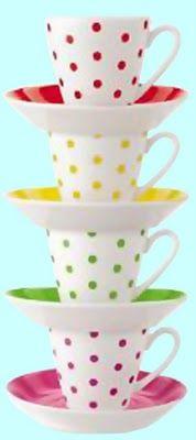 ::::♡ ♤ ♤ ✿⊱╮☼ ☾ PINTEREST.COM christiancross ☀❤ قطـﮧ ⁂ ⦿ ⥾ ⦿ ⁂ ❤U •♥•*⦿[†] :::: ooh la frou frou: A Toast to Spring! Polka Dotted Tea Cups.