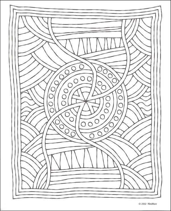 Aboriginal Mosaics Coloring Book, mosaic pattern