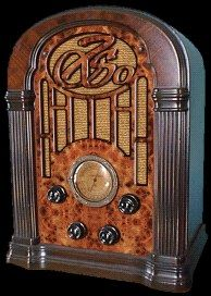 Type of source: Popular items Date of Origin: 1923 This is the american radio in the 1920s. It was very popular at that time that everyone is listening to shows. Therefore, the radio became a mass market. Factories produced a lot of american radio.